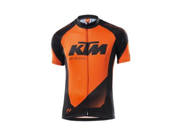Dětský cyklistický dres KTM Factory Youth black (orange)