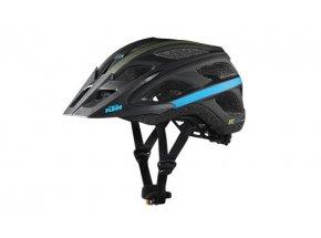 Cyklistická přilba KTM Factory Character Black (blue+lime)