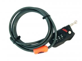 Zámek KTM Mini Cable Lock Code Black