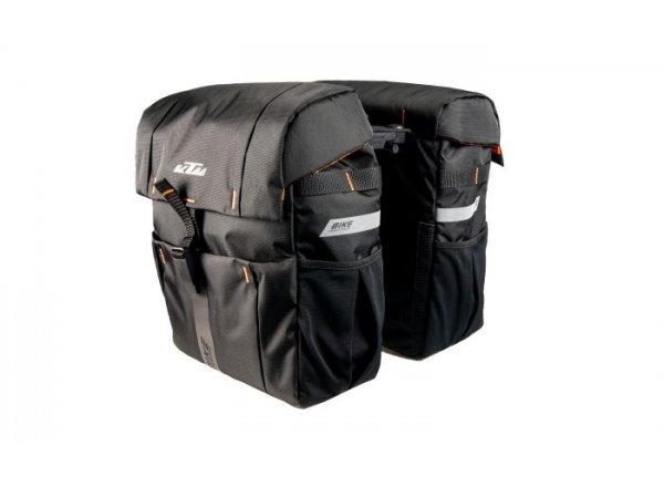 Dvojbrašna na nosič KTM Carrier Bag Double Fidlock snap it 2021 Black