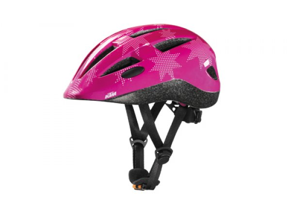 Dětská helma na kolo KTM Factory Kids 2021 Pink stars