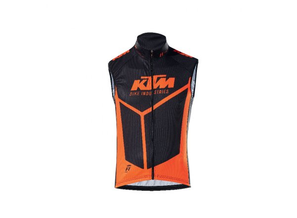 Cyklistický dres bez rukávů KTM Factory Team II Black/orange