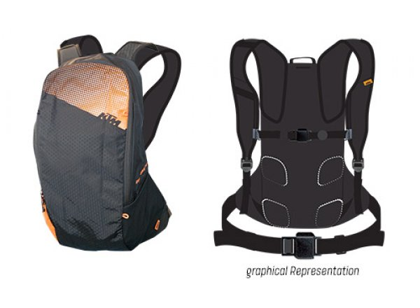 Batoh KTM Rucksack Factory Line 14 Black/orange