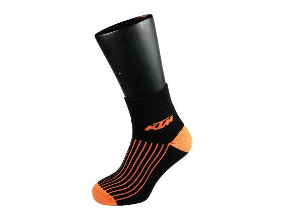 Cyklistické ponožky KTM Winter Merino zimní Black/orange