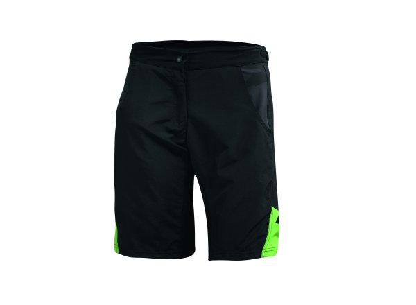 Cyklistické kraťasy KTM Lady Character bez vložky Black/green