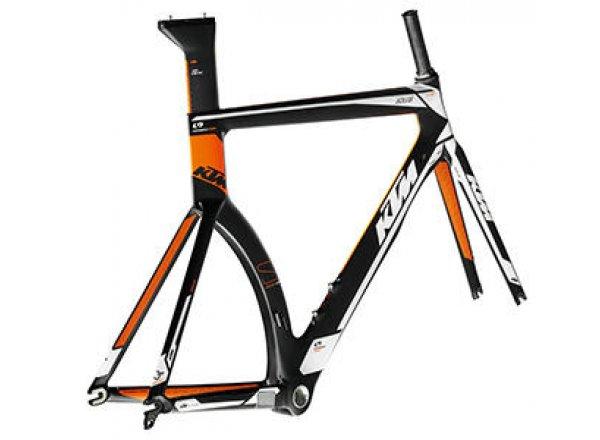 Samostatný časovkářský triatlonový rám KTM Solus TT triatlon časovku Black/orange/white