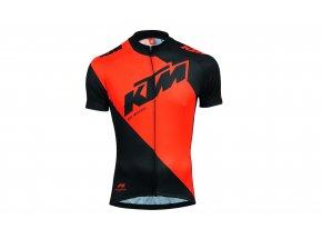 Cyklistický dres KTM Factory Line Black/orange
