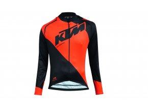 Cyklistická bunda KTM Factory Line s odepínacími rukávy Black/orange