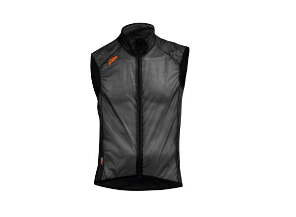Cyklistická vesta KTM Factory Team Windbreaker Black