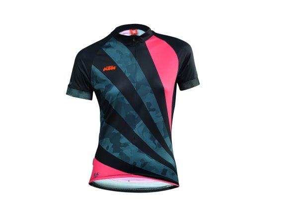 Dámský cyklistický dres KTM LADY LINE JERSEY Black/coral/dove