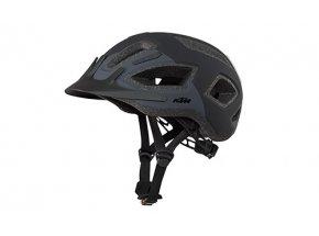 Cyklistická přilba KTM Factory Tour & Light se zadní blikačkou Black/grey