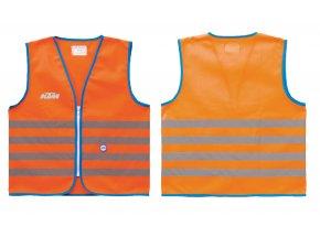 Dětská reflexní vesta KTM Safety Jacket kid 2021 Orange