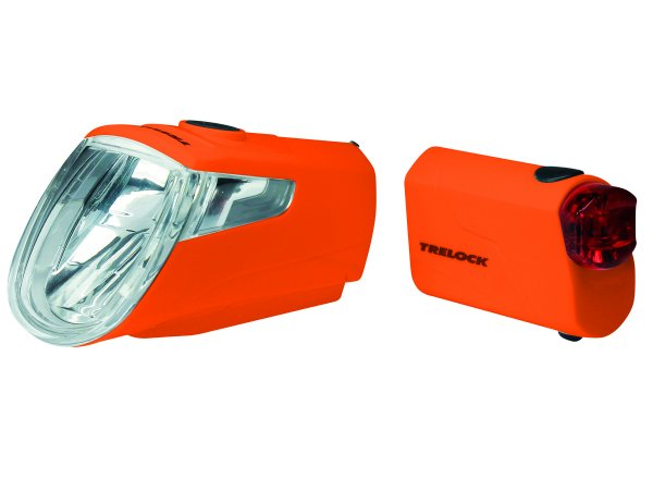 Sada světel KTM Trelock Licht Set LS 360 I-GO + LS 720 Orange