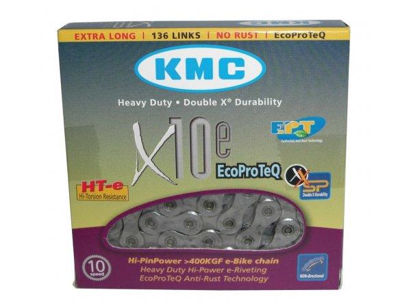 Řetěz pro elektrokola KMC X-10-E EPT 10 speed Silver