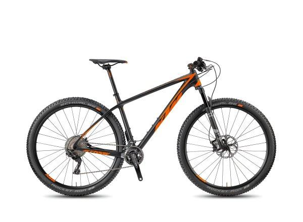 Horské kolo KTM MYROON 29 MASTER 22 2018 Black-matt/orange glossy