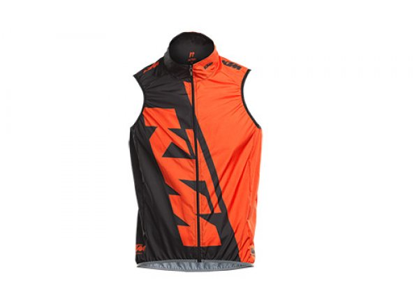 Cyklistická vesta KTM FACTORY TEAM RACE Black/orange