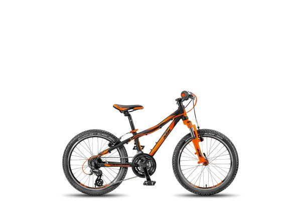 Dětské kolo KTM Wild Speed 20.21 V 2018 Black matt/orange