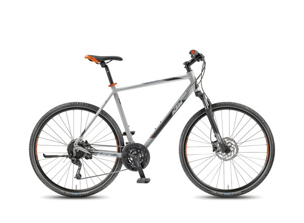 Krosové kolo KTM Life Road 27 DISC 2018 Matt lightgrey/black/orange