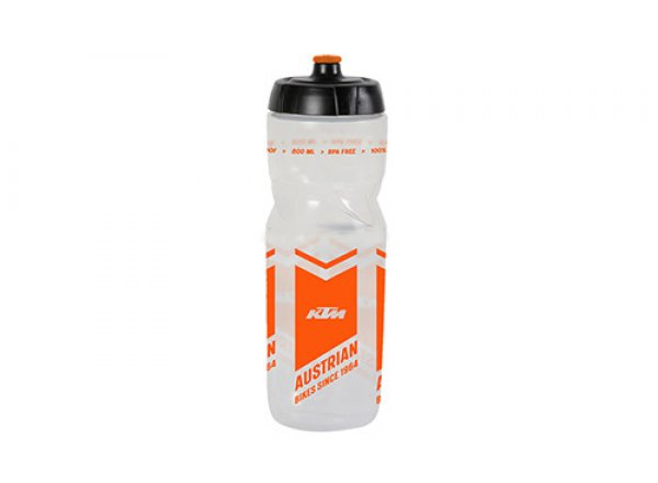 Láhev KTM Team Transparent Logo Transparent/orange