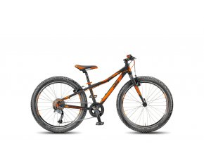 Dětské kolo KTM Wild Speed 24.9 Light Black matt/orange