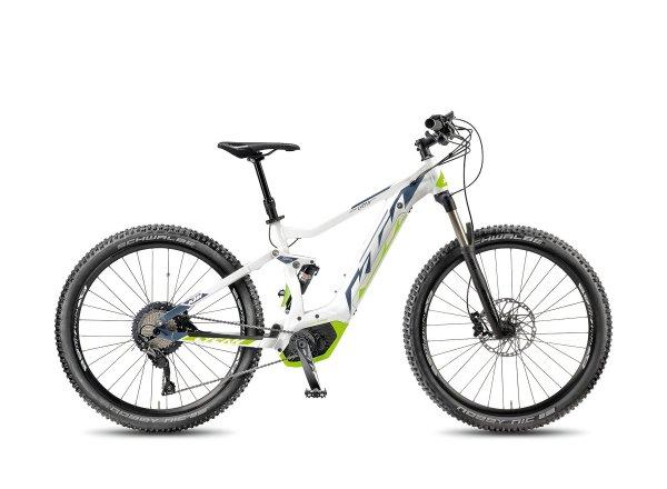 Elektrokolo KTM MACINA LYCAN 274 11 PT-CX5I 2018 White matt/stonegrey/green