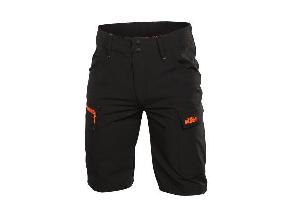 Kraťasy KTM Factory Team Work Short Black/orange