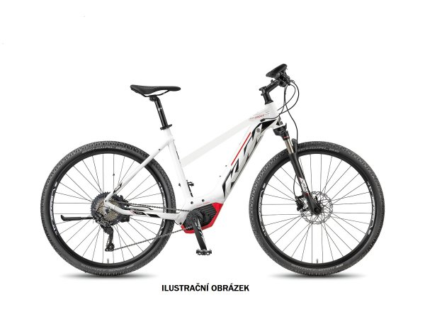 Dámské elektrokolo KTM MACINA CROSS 11 PT-CX5I 2018 White matt/black/red
