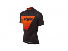 Cyklistický dres KTM Factory Line Black/orange