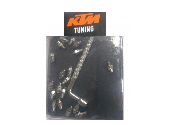 Náhradní piny k pedálům KTM freeride BMX Alu Silver