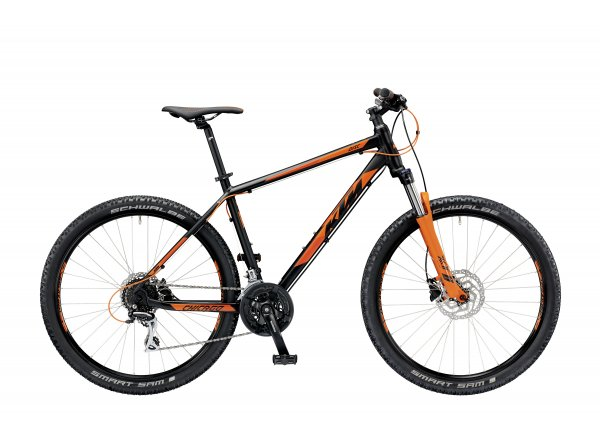 Horské kolo KTM Chicago 27.24 DISC H 2019 Black matt (orange)