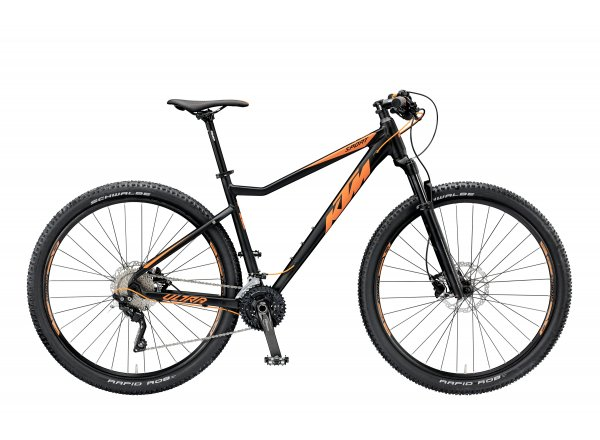 Horské kolo KTM ULTRA SPORT 29.30 2019 Black matt (orange)