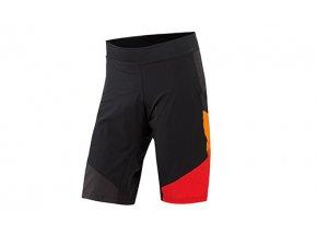 Cyklistické kraťasy KTM Factory Character včetně vnitřichních kalhot s vložkou Black/orange