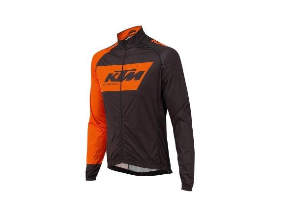 Cyklistická membránová bunda KTM Factory Team Wind Black/orange