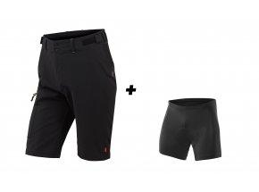 Cyklistické kraťasy KTM Factory Tour včetně vnitřichních kalhot s vložkou Black