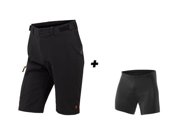 Cyklistické kraťasy KTM Factory Tour 2019 včetně vnitřichních kalhot s vložkou Black
