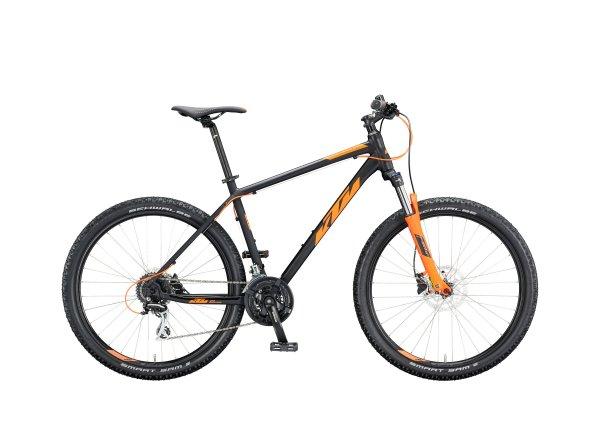 Horské kolo KTM CHICAGO DISC 27.5 2020 black matt (orange)