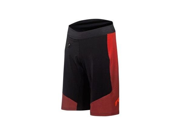 Cyklistické kraťasy KTM Factory Character včetně vnitřichních kalhot s vložkou Black/orange/red