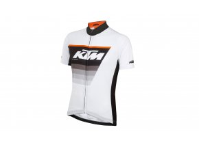 Cyklistický dres KTM Factory Line Black/white/orange
