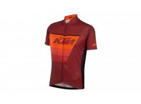 Cyklistický dres KTM Factory Line Black/orange/red