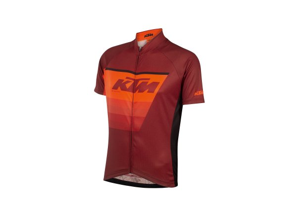 Cyklistický dres KTM Factory Line Black/orange/red