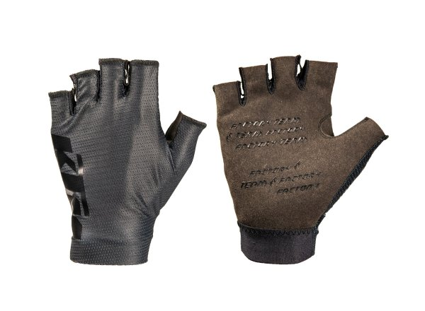 Cyklistické rukavice KTM Factory Team gloves Short 2021 Black