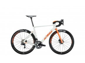 Silniční kolo KTM REVELATOR LISSE PRESTIGE 22 2020 white metallic (space orange)