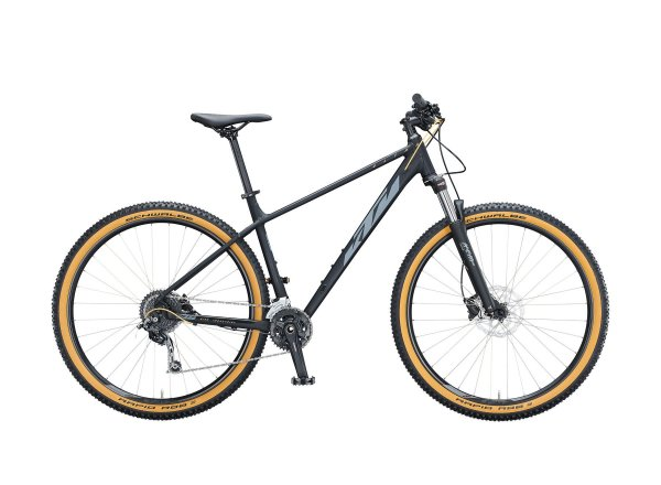 Horské kolo KTM ULTRA FUN 29 2021 black matt (grey+gold)