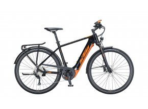 Pánské elektrokolo KTM MACINA SPORT 630 625Wh 2021 metallic black (orange)