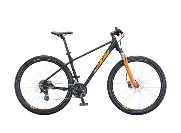"Horské kolo KTM CHICAGO DISC 292 29"" 2021 black matt (orange)"