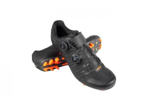 Cyklistické tretry KTM Factory Team Carbon 3D MTB 2021 Black/orange