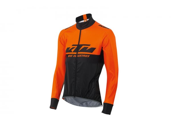 Cyklistická bunda KTM Factory Team Windbreaker XW Black/orange