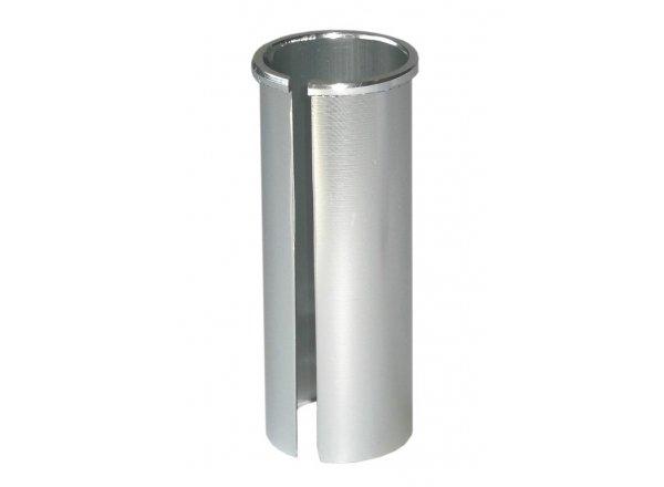 Kalibrační pouzdro (redukce) pro sedlovky Ø 27,2mm pro rám Ø 30,4mm Silver