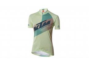 Dámský cyklistický dres KTM Lady Character 2021 lime/oak