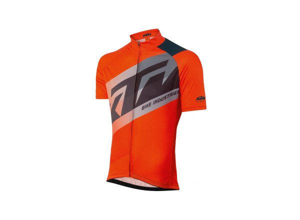 Cyklistický dres KTM Factory Line 2021 orange/grey